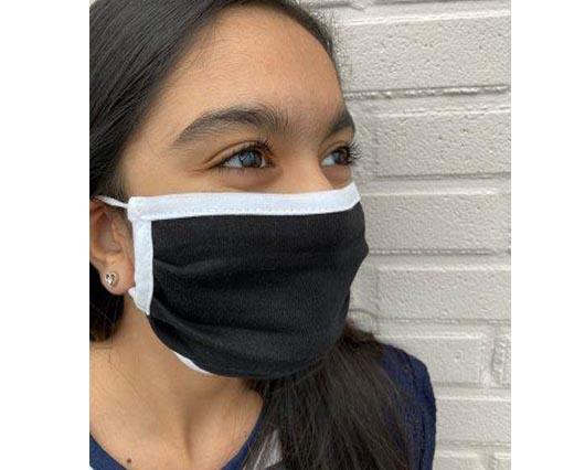 Mix washable cotton facemask - Black-white