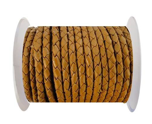 Round Braided Leather Cord SE/B/2018-Milk Chocolate - 3mm