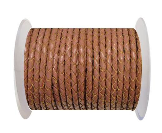 Buy Round Braided Leather Cord SE/B/2019-Taupe - 3mm at wholesale prices