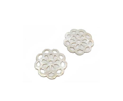 Silver plated Brush Beads - 3001