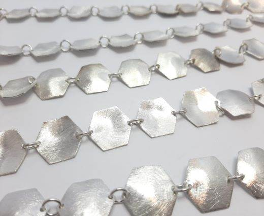 Silver beads chain - 30011