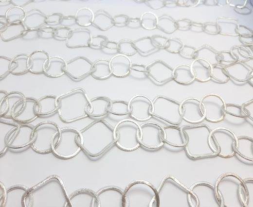Silver beads chain - 30013
