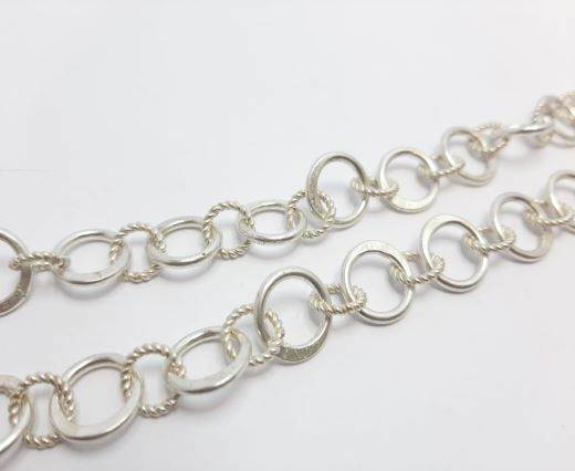 Silver beads chain - 30018