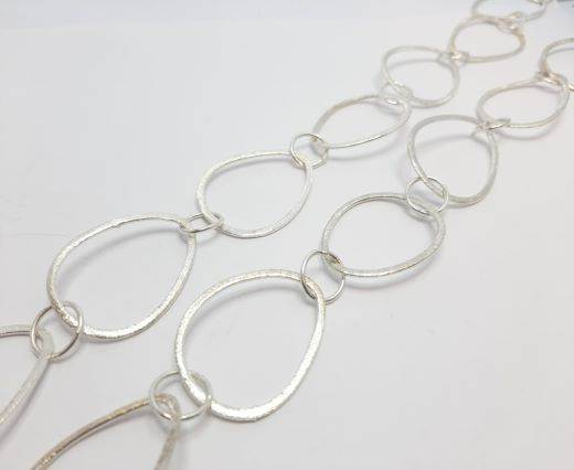 Silver beads chain - 30019