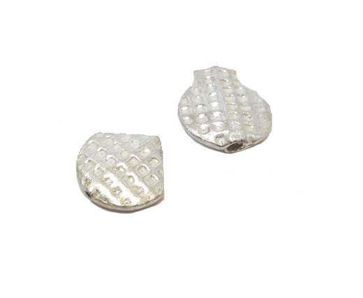 Silver plated Brush Beads - 3010