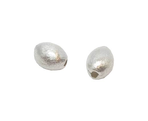 Silver plated Brush Beads - 3013