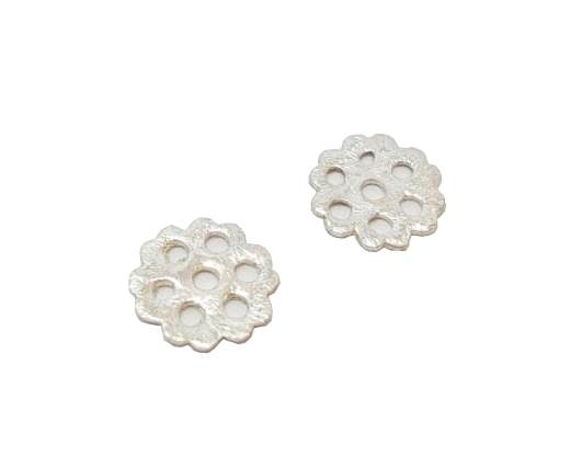 Silver plated Brush Beads - 3015