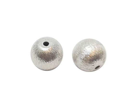 Silver plated Brush Beads - 3020