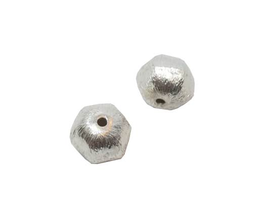 Silver plated Brush Beads - 3021-12mm