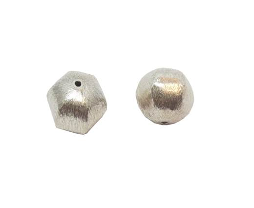 Silver plated Brush Beads - 3021-9mm