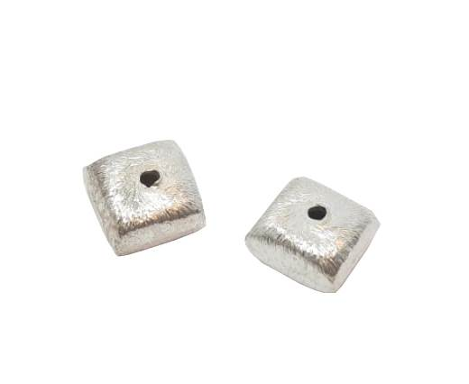Silver plated Brush Beads - 3022