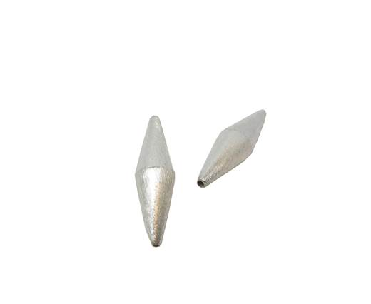 Silver plated Brush Beads - 3027