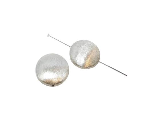 Silver plated Brush Beads - 3031