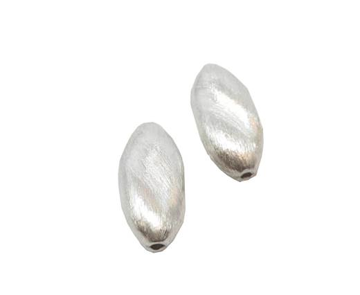 Silver plated Brush Beads - 3032