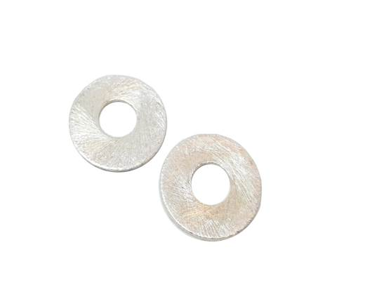 Silver plated Brush Beads - 3033
