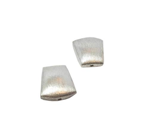 Silver plated Brush Beads - 3035