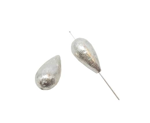 Silver plated Brush Beads - 3036