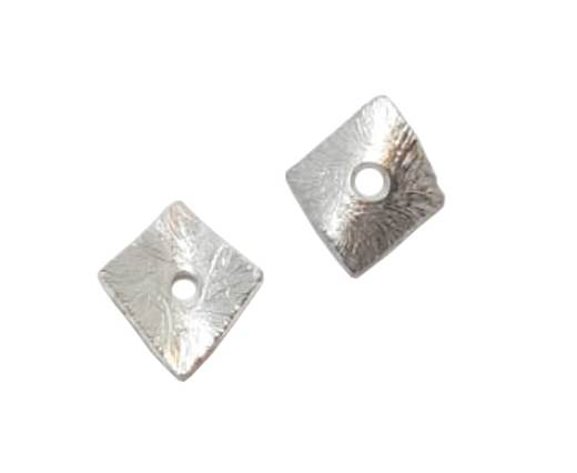Silver plated Brush Beads - 3039