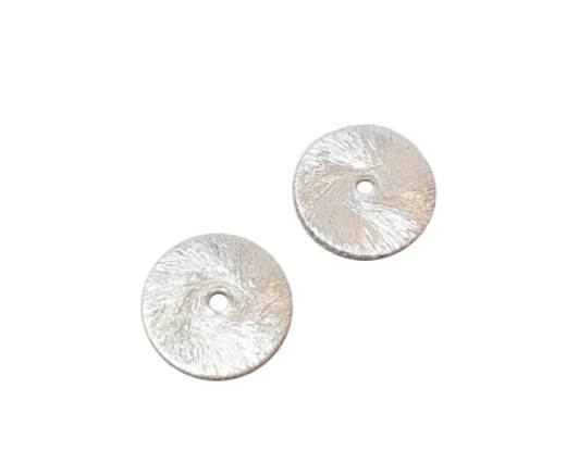 Silver plated Brush Beads - 3042