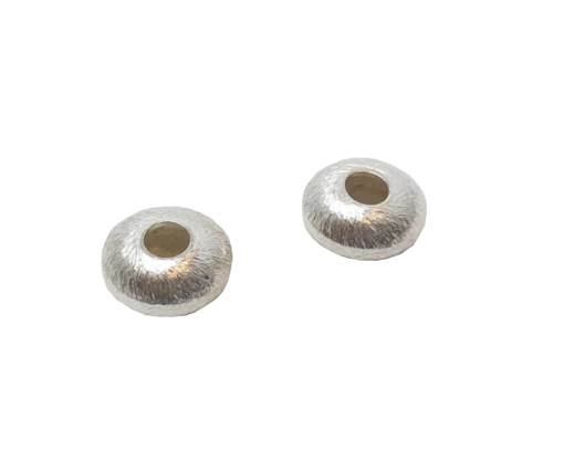 Silver plated Brush Beads - 3046