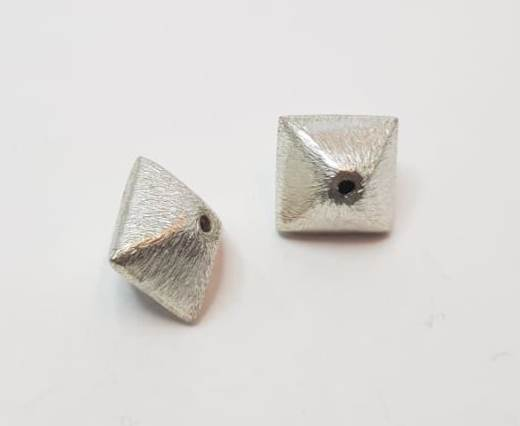 Silver plated Brush Beads - 3053