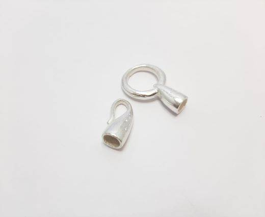 Silver plated Brush Beads - 3074
