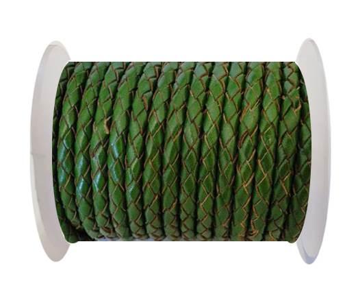 Round Braided Leather Cord SE/B/2025-Fern - 5mm