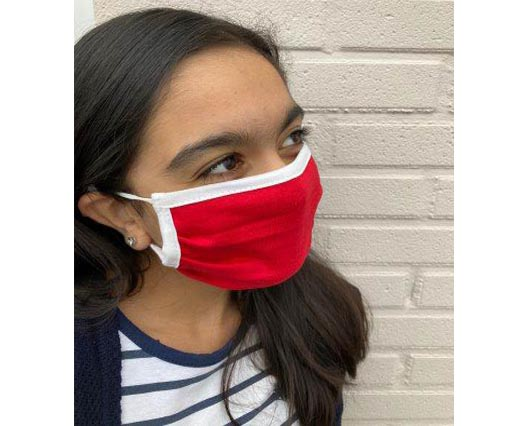 Mix washable cotton facemask - Red