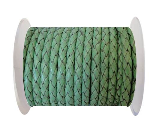 Buy Round Braided Leather Cord SE/B/2034-Light Mint - 3mm at wholesale prices