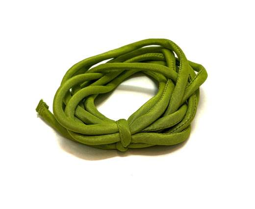 Real silk cords with inserts - 3mm - LIME