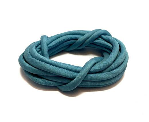 Real silk cords with inserts - 3mm - BABY BLUE