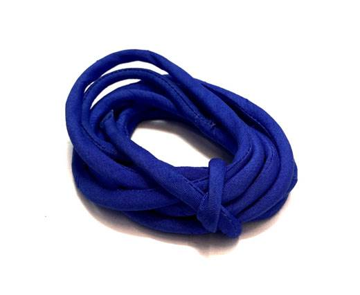 Real silk cords with inserts - 3mm - SAPPHIRE