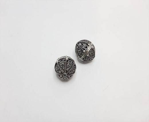 Antique Silver Plated beads - 44002