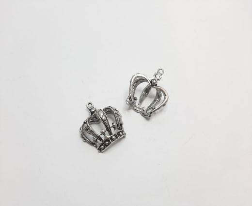 Antique Silver Plated beads - 44008