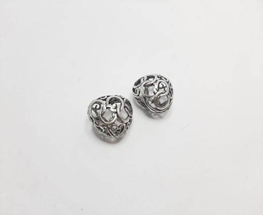 Antique Silver Plated beads - 44011