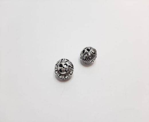 Antique Silver Plated beads - 44033