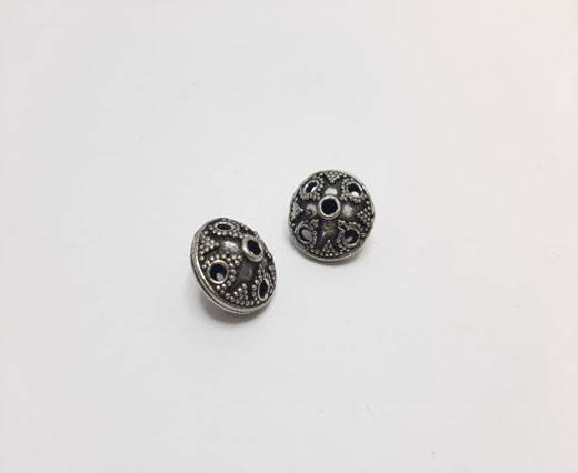 Antique Silver Plated beads - 44051