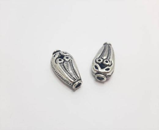 Antique Silver Plated beads - 44222