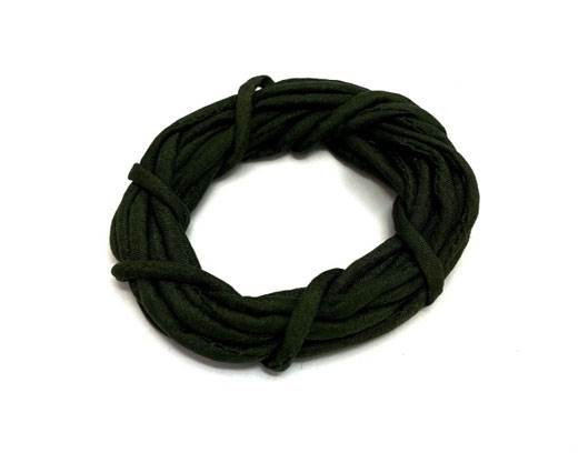 Real silk cords with inserts - 2mm - FOREST GREEN
