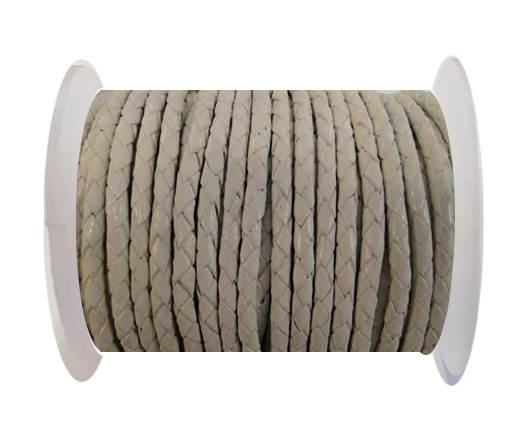 Buy Round Braided Leather Cord SE/B/05-White - 3mm at wholesale prices