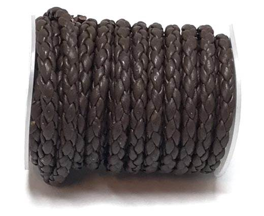 Round Braided Bolo Cords - 4mm -  brown