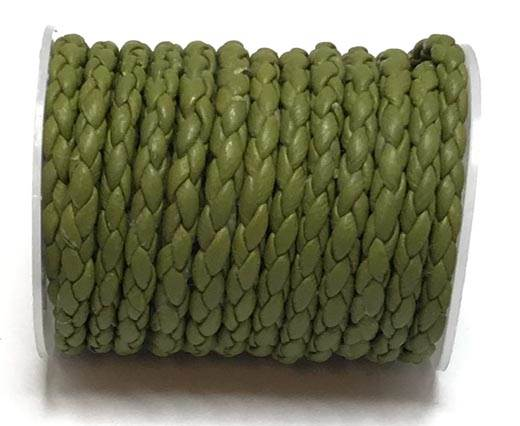 Round Braided Bolo Cords - 4mm -  green