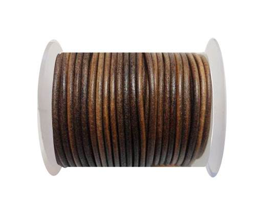 Round leather cord-4mm-  SE Dark Natural