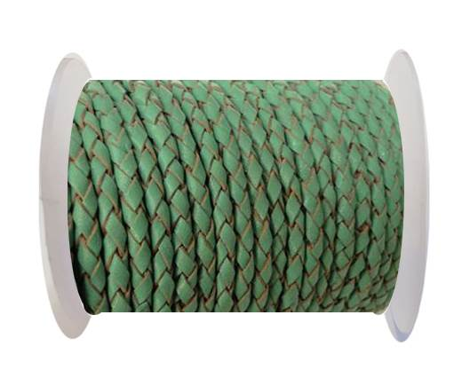 Buy Round Braided Leather Cord SE/B/540-Mint - 3mm at wholesale prices