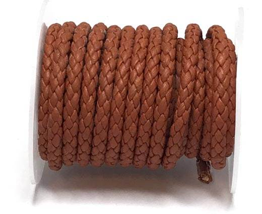 Round Braided Bolo cords - 6mm-orange_