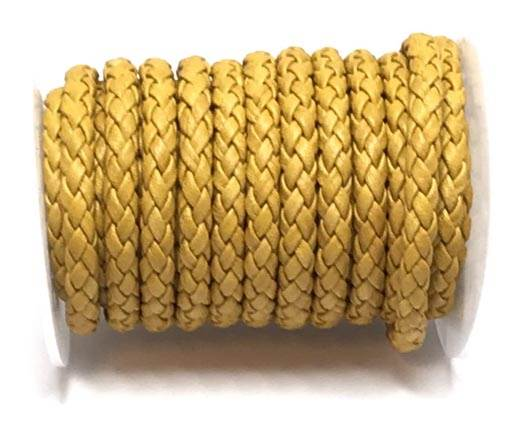 Round Braided Bolo cords - 6mm-yellow