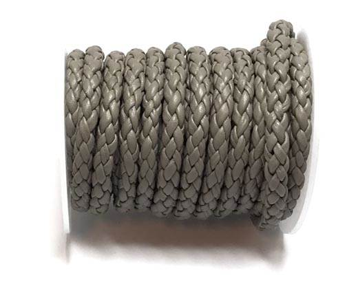 Round Braided Bolo cords - 6mm-grey