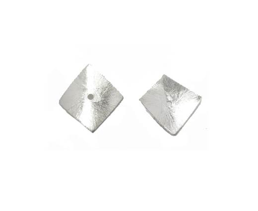 Silver plated Brush Beads - 7145