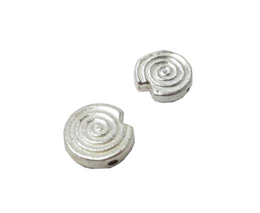 Silver plated Brush Beads - 7332