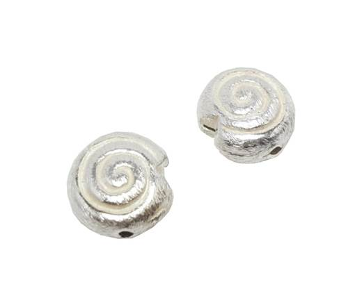 Silver plated Brush Beads - 7338